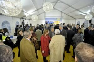 Primera piedra IKEA Sabadell - carpa 2 aguas